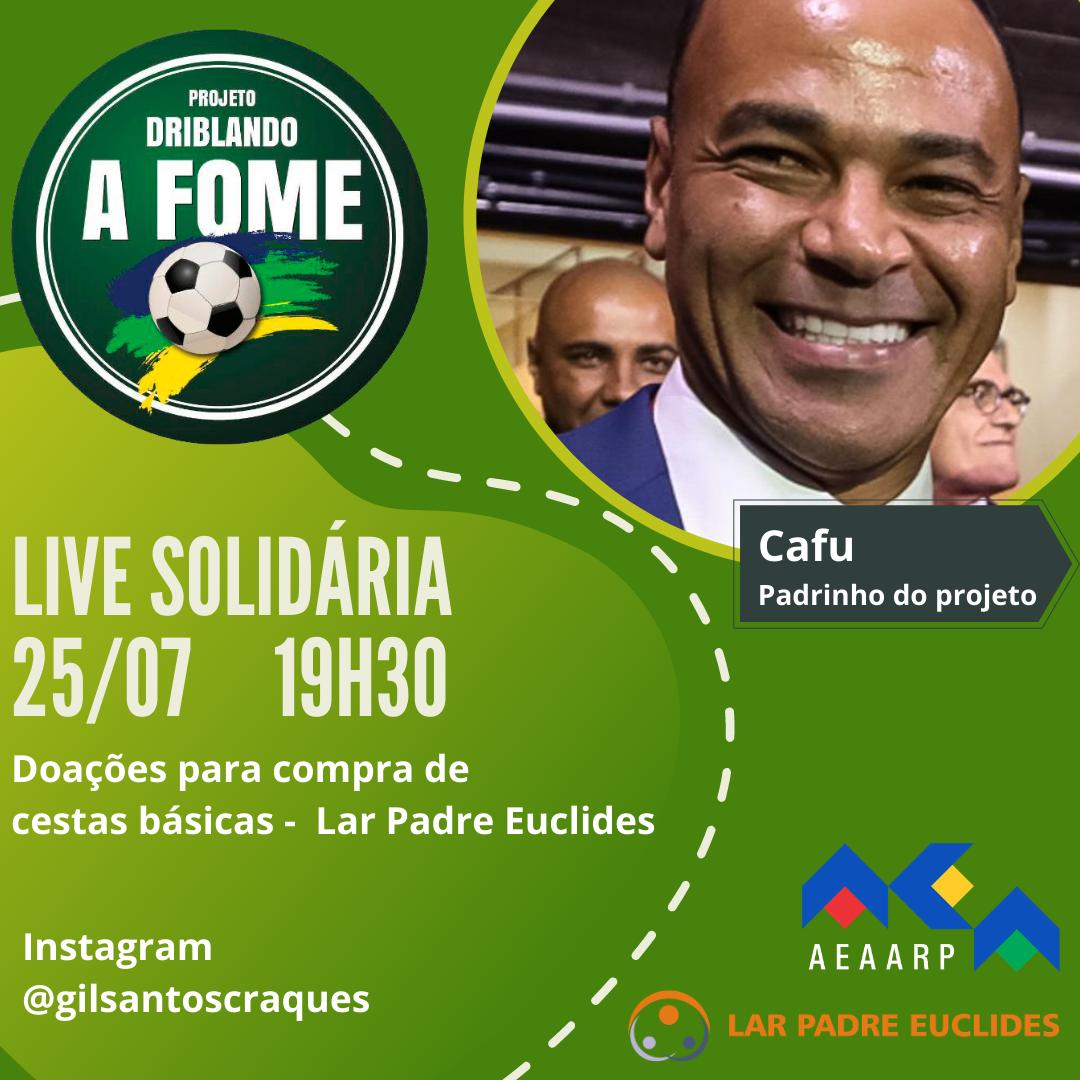 AEAARP participa de live solidária com jogador Cafu para arrecadar cestas básicas para Ribeirão